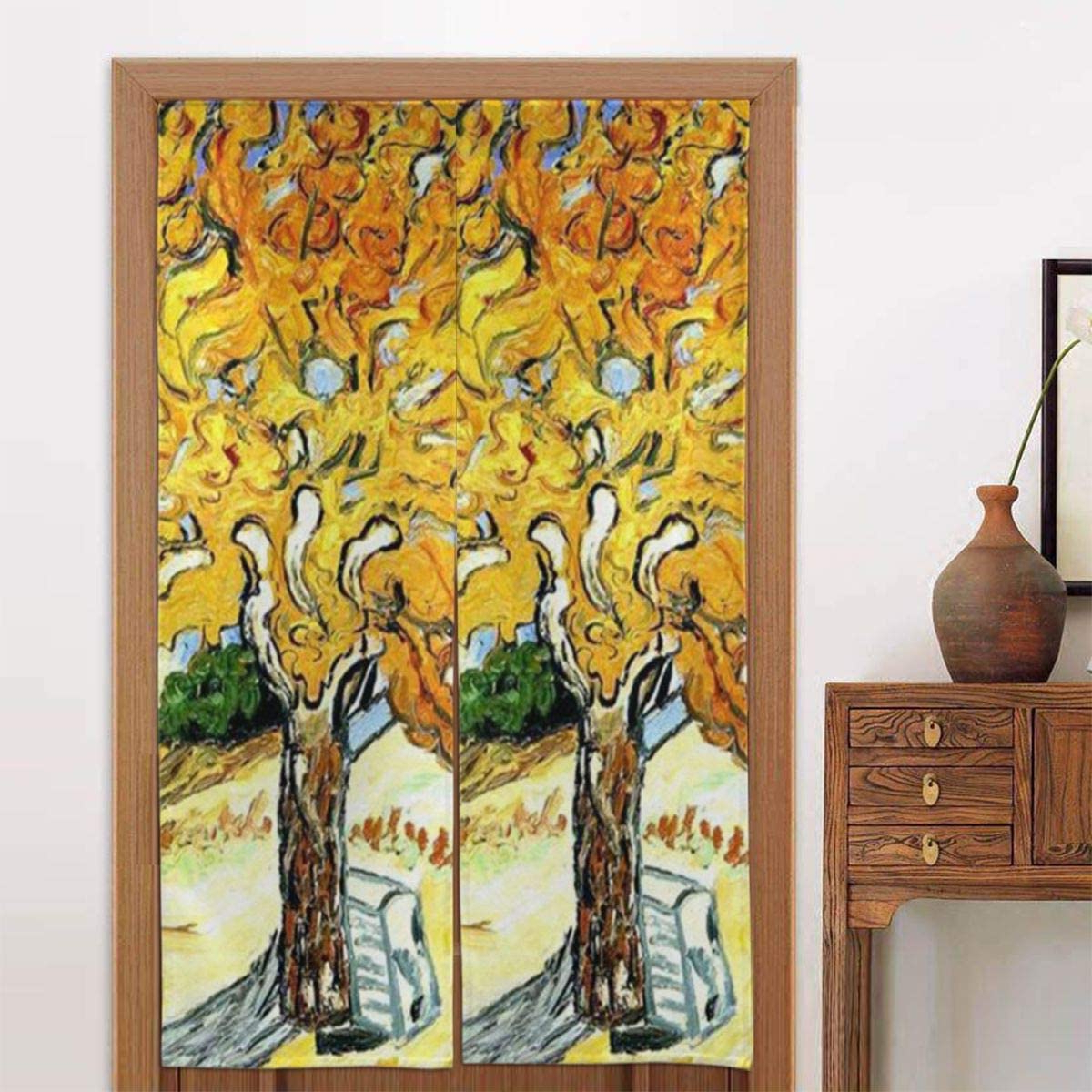 Blended Fabric The Mulberry Tree – Van Gogh Wall Hangings Within Most Current Amazon: Slhfpx Noren Doorway Curtain Mulberry Tree Van (View 4 of 20)
