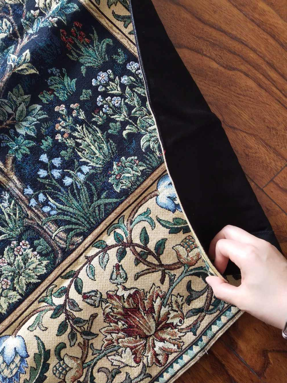 Blended Fabric Tree Of Life, William Morris Wall Hangings Intended For Favorite Belgium William Morris Works Tree Of Life Home Textile Jacquard Fabric Product Tapestry Wall Hangings Happy Fortune Tree Decorat (View 11 of 20)