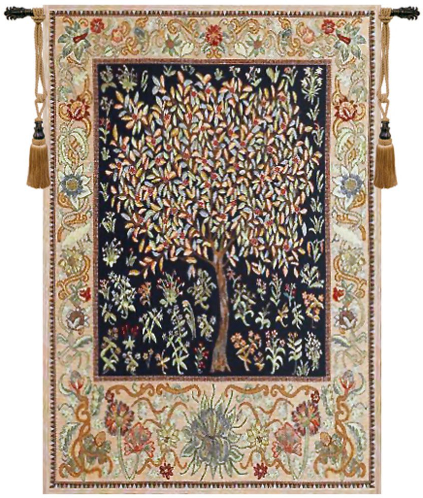 Blended Fabric Tree Of Life, William Morris Wall Hangings Pertaining To 2020 Tree Of Life – Pastel William Morris Design Belgian Woven (View 9 of 20)