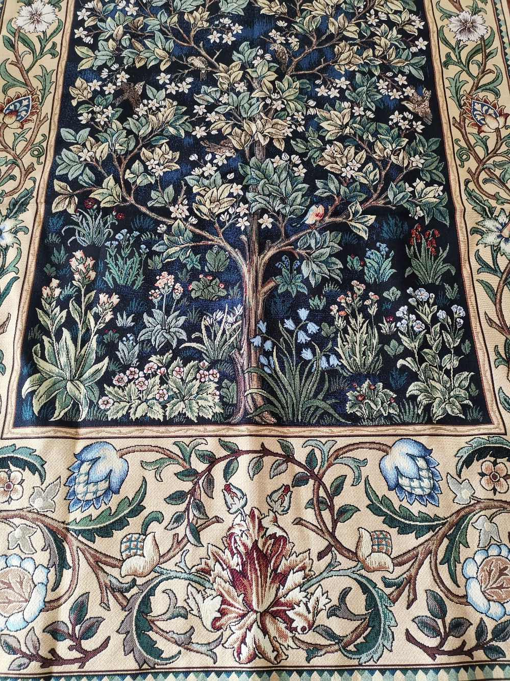 Blended Fabric Tree Of Life, William Morris Wall Hangings Pertaining To Most Recently Released William Morris Blue Tree Of Life 140*107cm Antique Textile Decorative Belgiu Wall Hanging Tapestry For Home Decorative Tapestry (View 10 of 20)