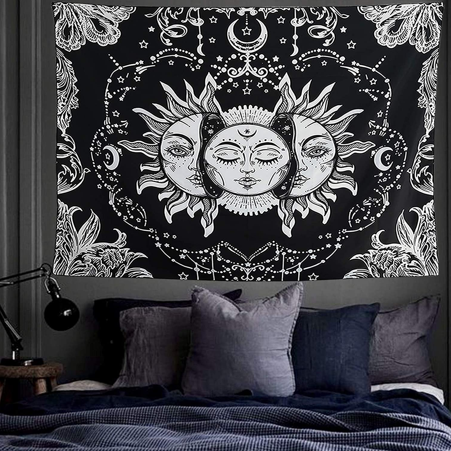 Blended Fabric Trust In The Lord Tapestries And Wall Hangings Regarding Recent Fairdew Wall Cloth Decor Tapestry For Living Room, Large Tapestry Wall Hanging For Bedroom, Sun And Moon Wall Blanket Decorations For Bedroom Trippy (View 15 of 20)