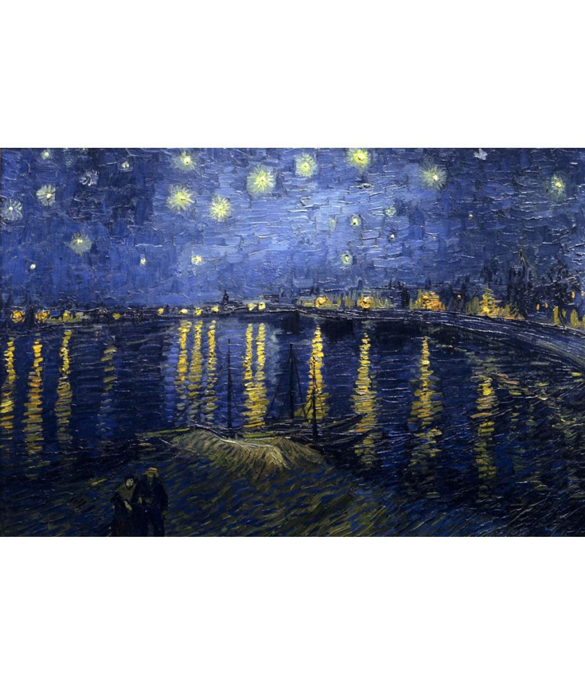 Blended Fabric Van Gogh Starry Night Over The Rhone Wall Hangings For Widely Used The Museum Outlet Starry Night Over The Rhonevan Gogh Poster (View 14 of 20)