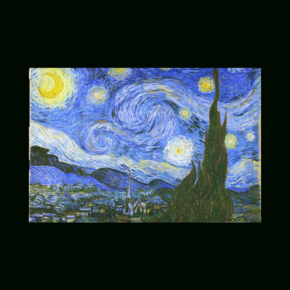 "Blended Fabric Van Gogh Starry Night Over The Rhone Wall Hangings Within Fashionable Van Gogh Starry Night Cotton Linen Wall Tapestry 90""x (View 12 of 20)"
