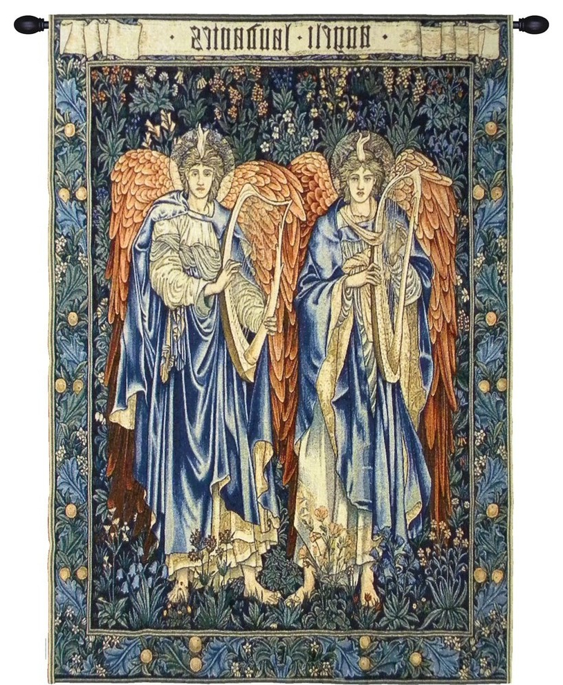Blended Fabric Vieux Brussels Wall Hangings Pertaining To Widely Used Angeli Landente Tapestry Wall Art Hanging, A – H 46 X W (View 13 of 20)