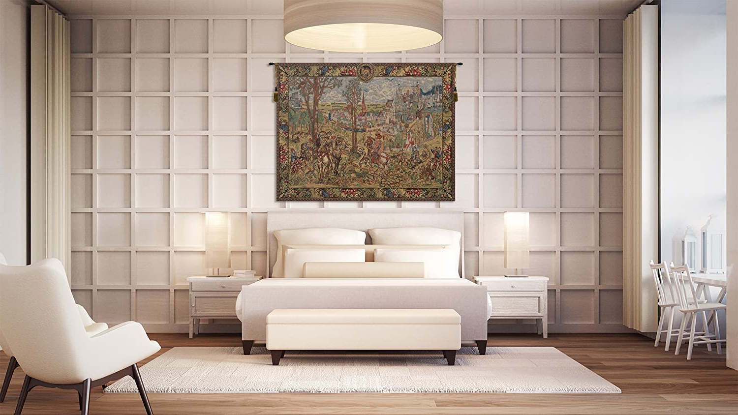 Blended Fabric Vieux Brussels Wall Hangings Throughout Current Amazon: Charlotte Home Furnishings Inc (View 10 of 20)