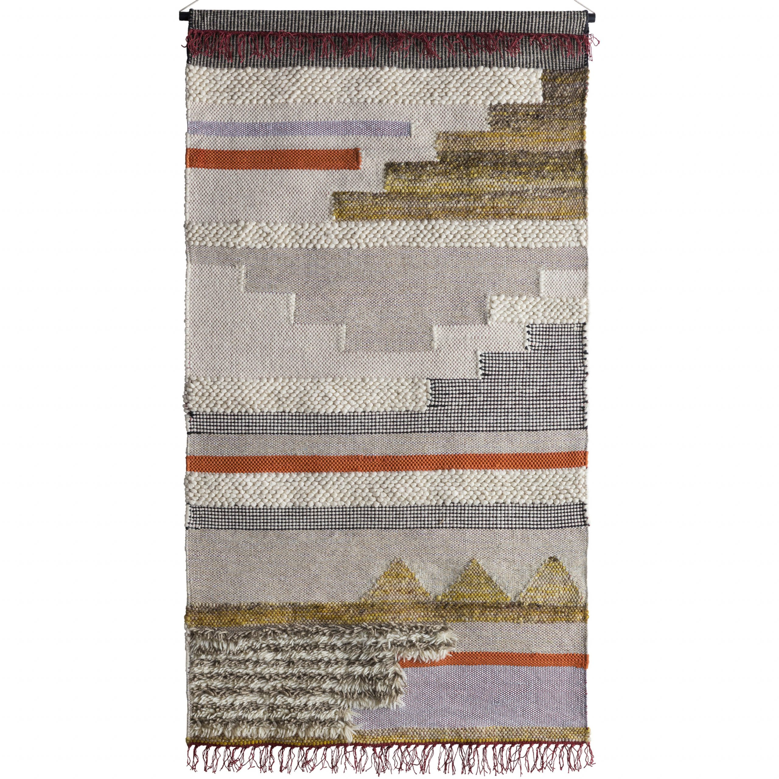 Blended Fabric Wall Hanging With Hanging Accessories Intended For Trendy Blended Fabric In His Tapestries And Wall Hangings (View 3 of 20)