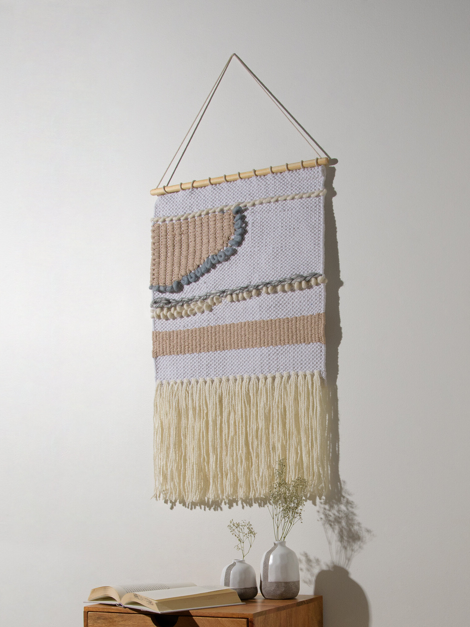 Blended Fabric Wall Hangings Regarding Most Current Blended Fabric Wall Hanging With Hanging Accessories Included (View 6 of 20)