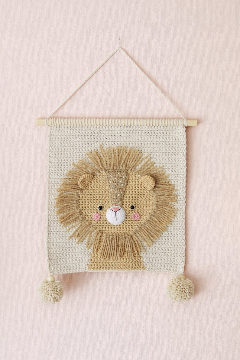 Blended Fabric Wall Hangings With Hanging Accessories Included Within Well Liked Wall Hanging Wall Decor Crochet Decor Nursery Wall Decor (View 11 of 20)