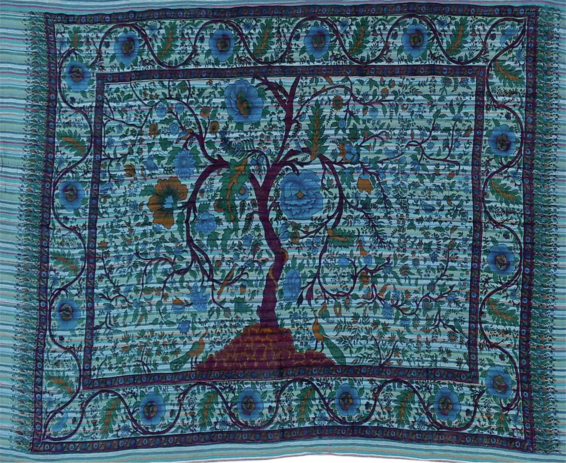 Bloomsbury Market Cotton Horizontal Tree Of Life Wall In Most Current Blended Fabric Clancy Wool And Cotton Wall Hangings With Hanging Accessories Included (View 7 of 20)