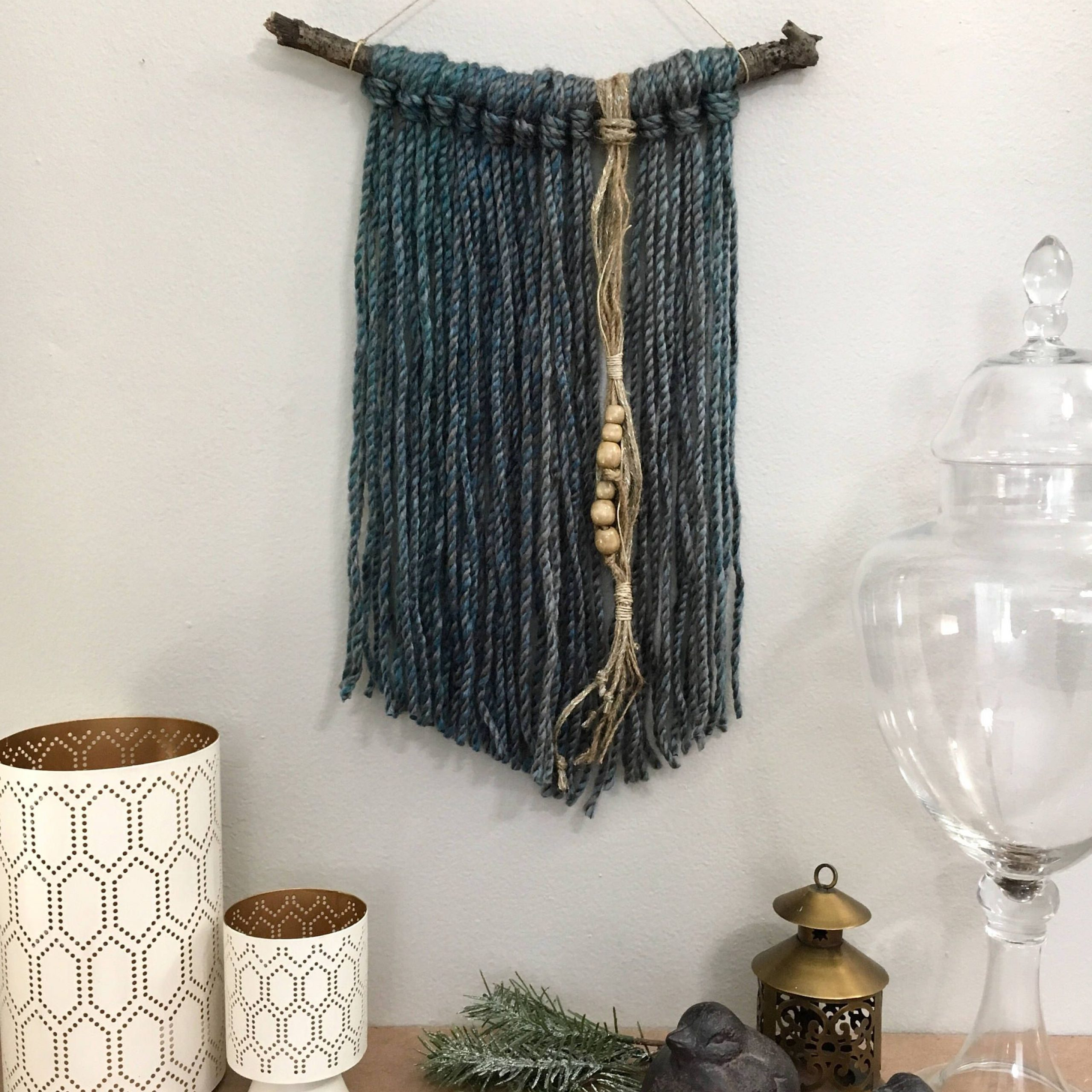 Bohemian Wall Hanging Modern Yarn Wall Hanging Macrame Boho Intended For 2019 Blended Fabric Wall Hangings With Hanging Accessories Included (View 17 of 20)
