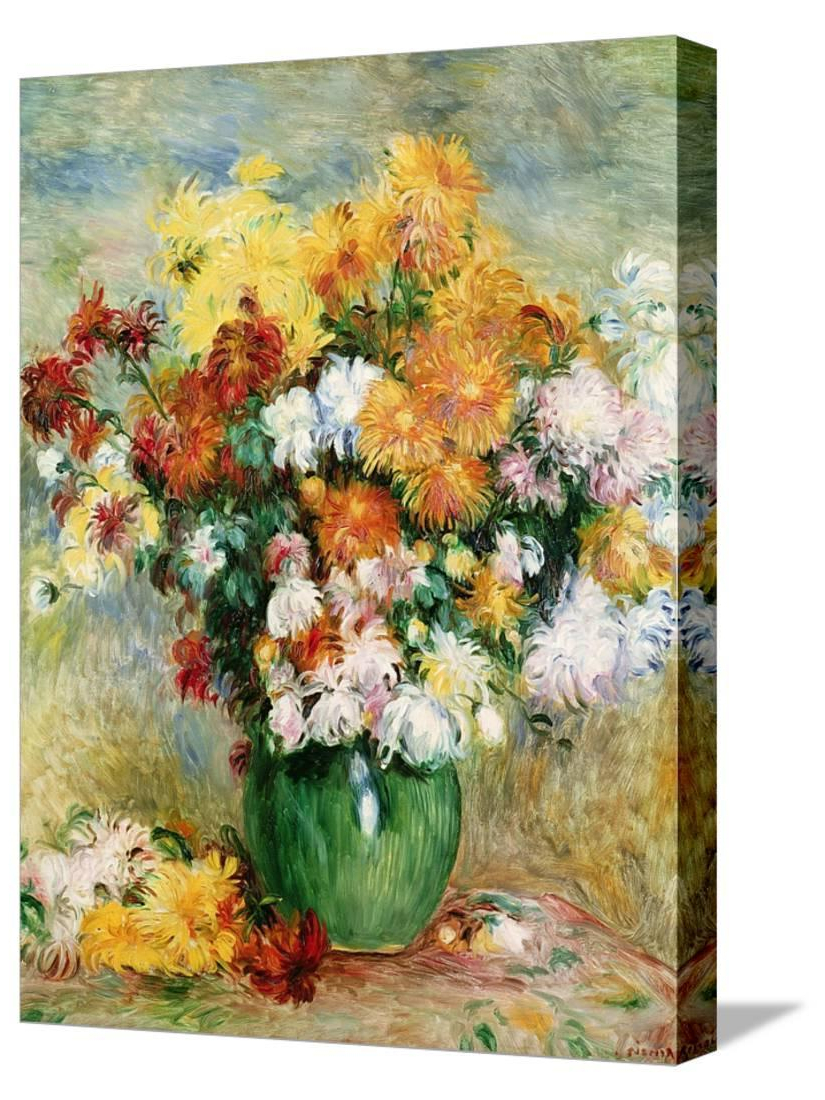 Bouquet Of Chrysanthemums, Circa 1884, Botanical Gallery Wrapped Canvas Print Wall Artpierre Auguste Renoir – Walmart In Most Recent Blended Fabric Spring Bouquet By Renoir Tapestries (View 8 of 20)