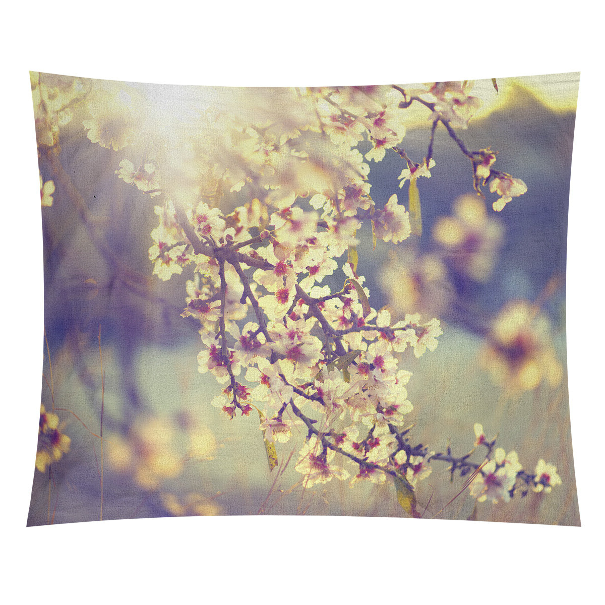 Bourbeau Cherry Blossoms Tapestry Throughout Newest Blended Fabric Spring Blossom Tapestries (View 20 of 20)