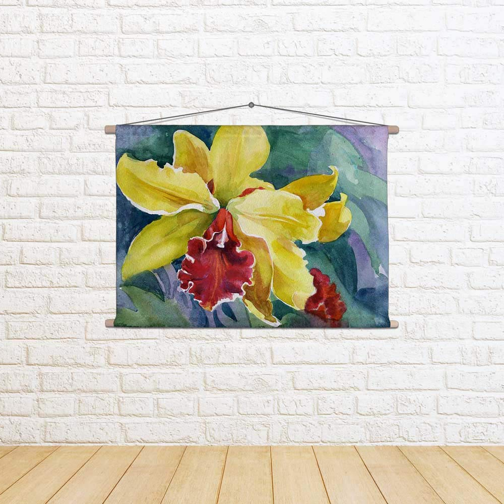 Buy Artzfolio Yellow Iris Satin Fabric Painting Tapestry For Most Popular Blended Fabric Irises Tapestries (View 13 of 20)