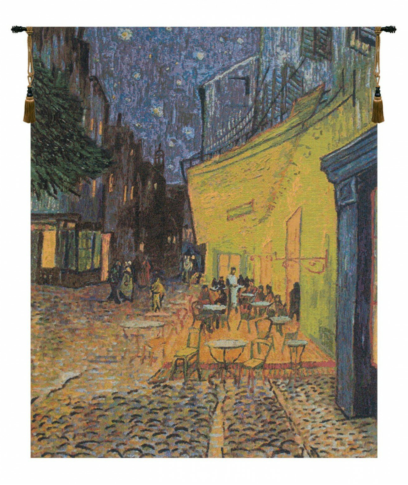 Cafe Terrace At Night 1vincent Van Gogh Tapestry Inside Best And Newest Blended Fabric Van Gogh Terrace Wall Hangings (View 2 of 20)