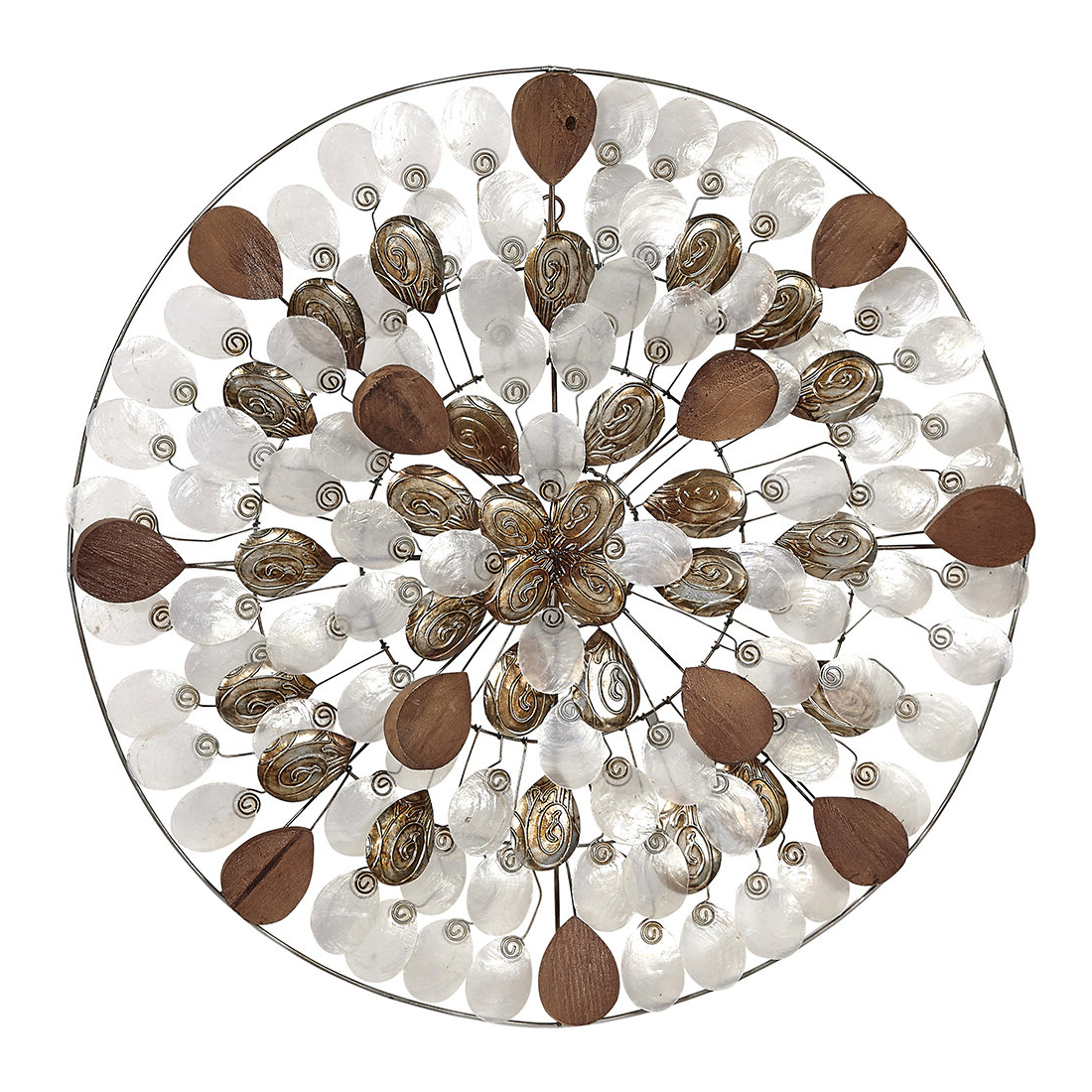 Capiz Shell Wall Décor For Famous Metal Capiz Wall Decor By Wrought Studio (View 11 of 20)
