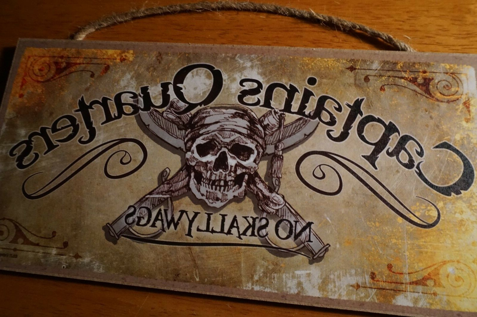 Captains Quarters Pirate Sign Skull Sword Ship Beach Bar Boat Sailing Home Decor With Regard To Recent Metal Captains Quarters Sign Wall Décor (View 3 of 20)
