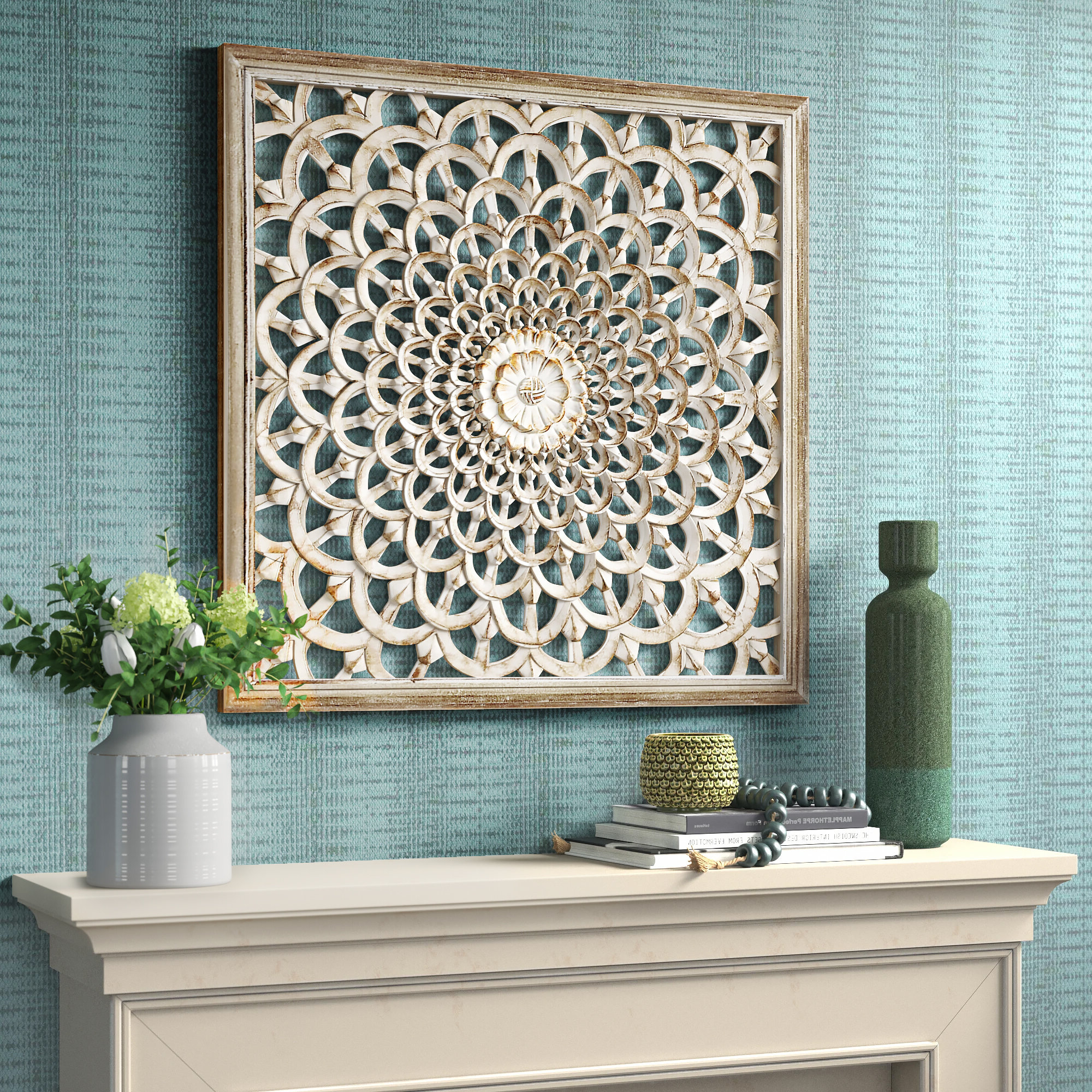 Ceramic Flowers Wall Décor In Favorite Paulina Panels Wall Décor (set Of 2) (View 19 of 20)