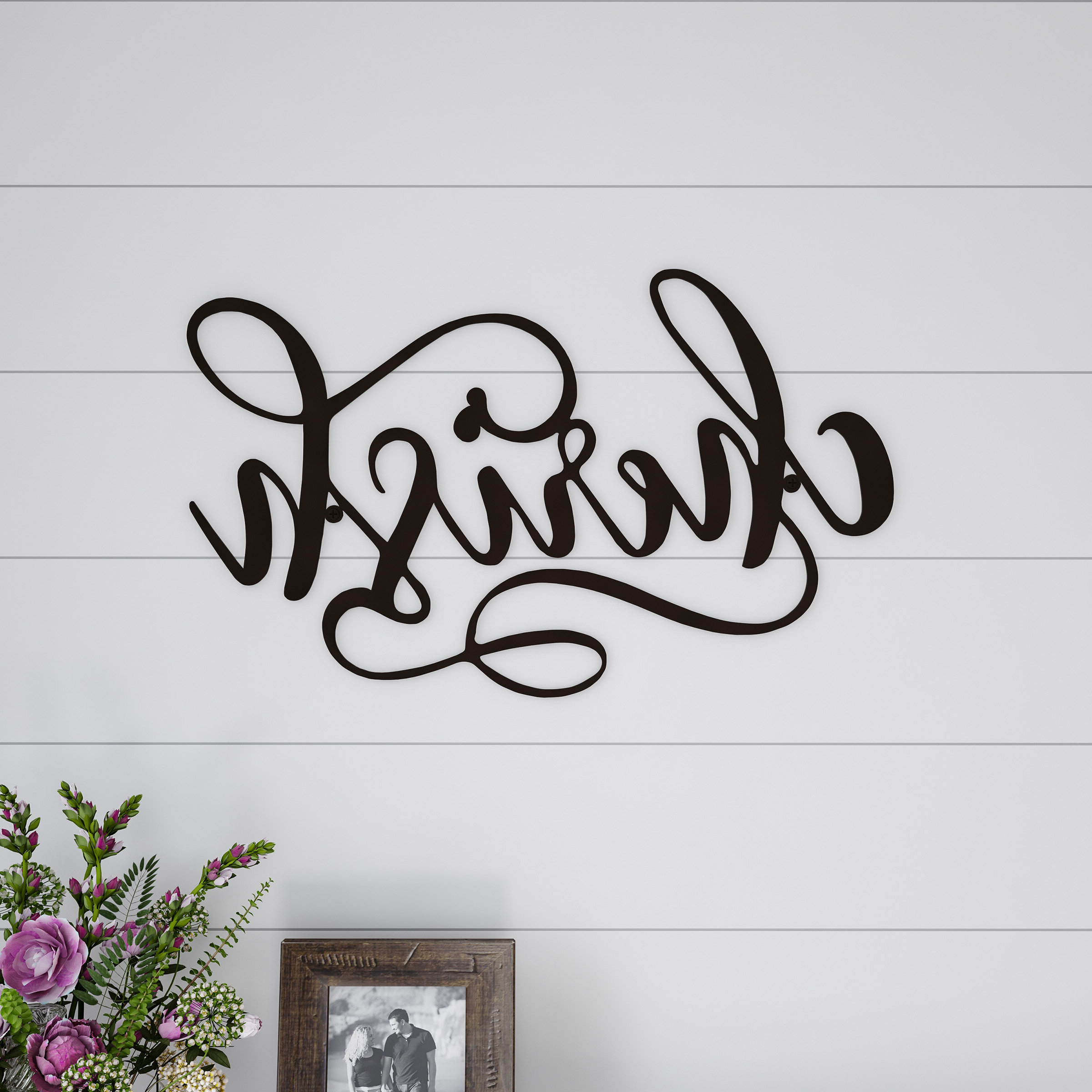Cherish Metal Wall Décor Throughout Most Recently Released Rustic Metal Wall Décor By Winston Porter (View 15 of 20)
