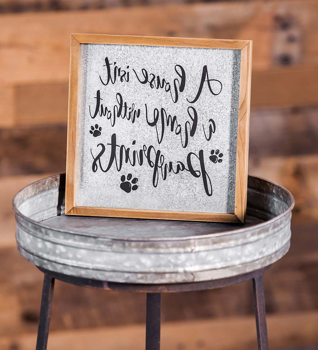Choose Happiness 3d Cursive Metal Wall Décor For Most Recently Released Metal And Wood Dog Lover's Wall Décor (View 17 of 20)