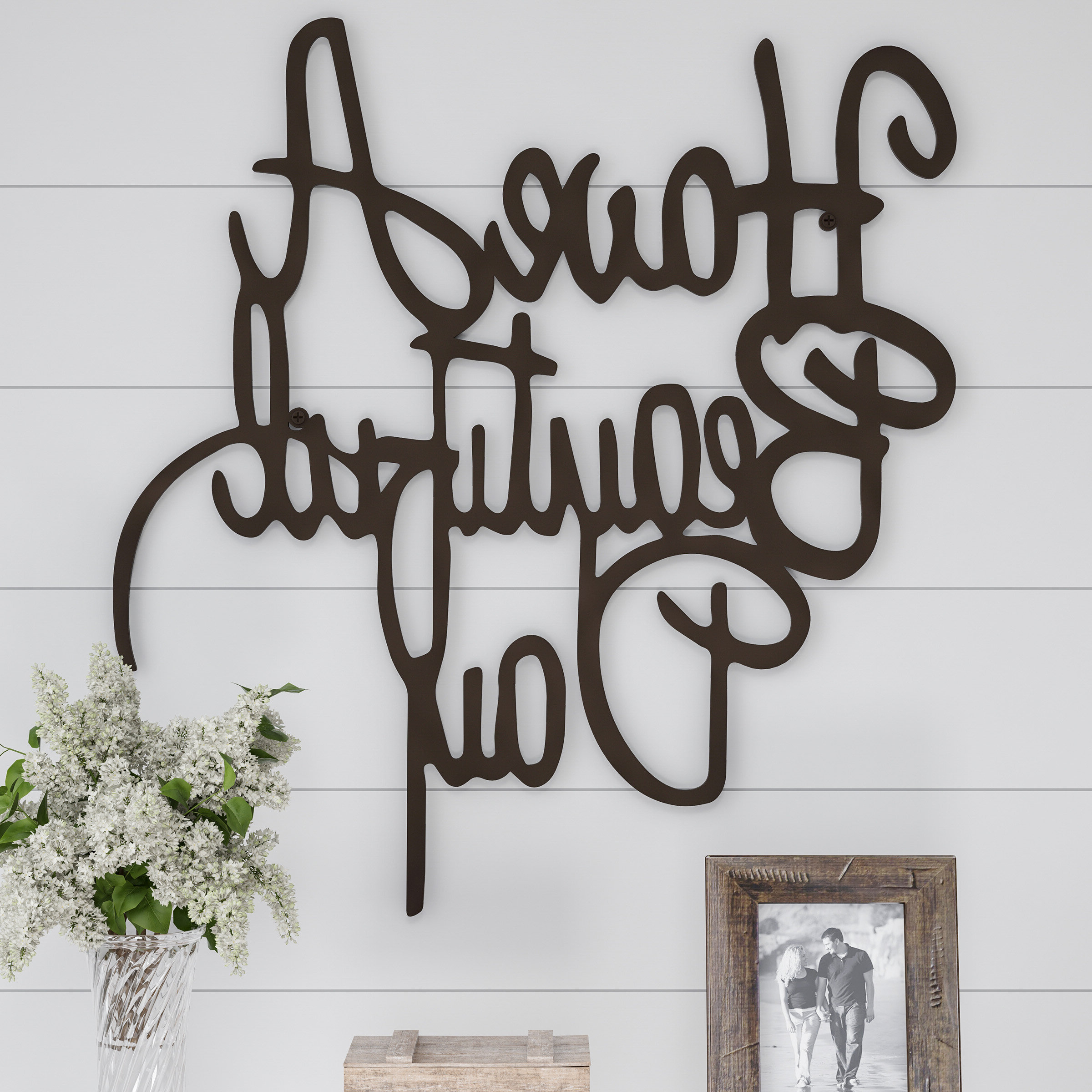 Choose Happiness 3d Cursive Metal Wall Décor Inside Newest Gracie Oaks Have A Beautiful Day Metal Wall Décor (View 18 of 20)