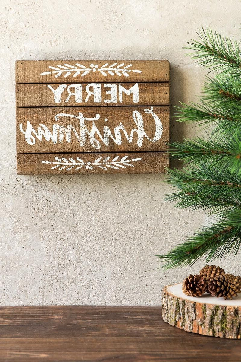 Christmas Signs Wood In Merry Christmas Sign Wall Décor (View 10 of 20)