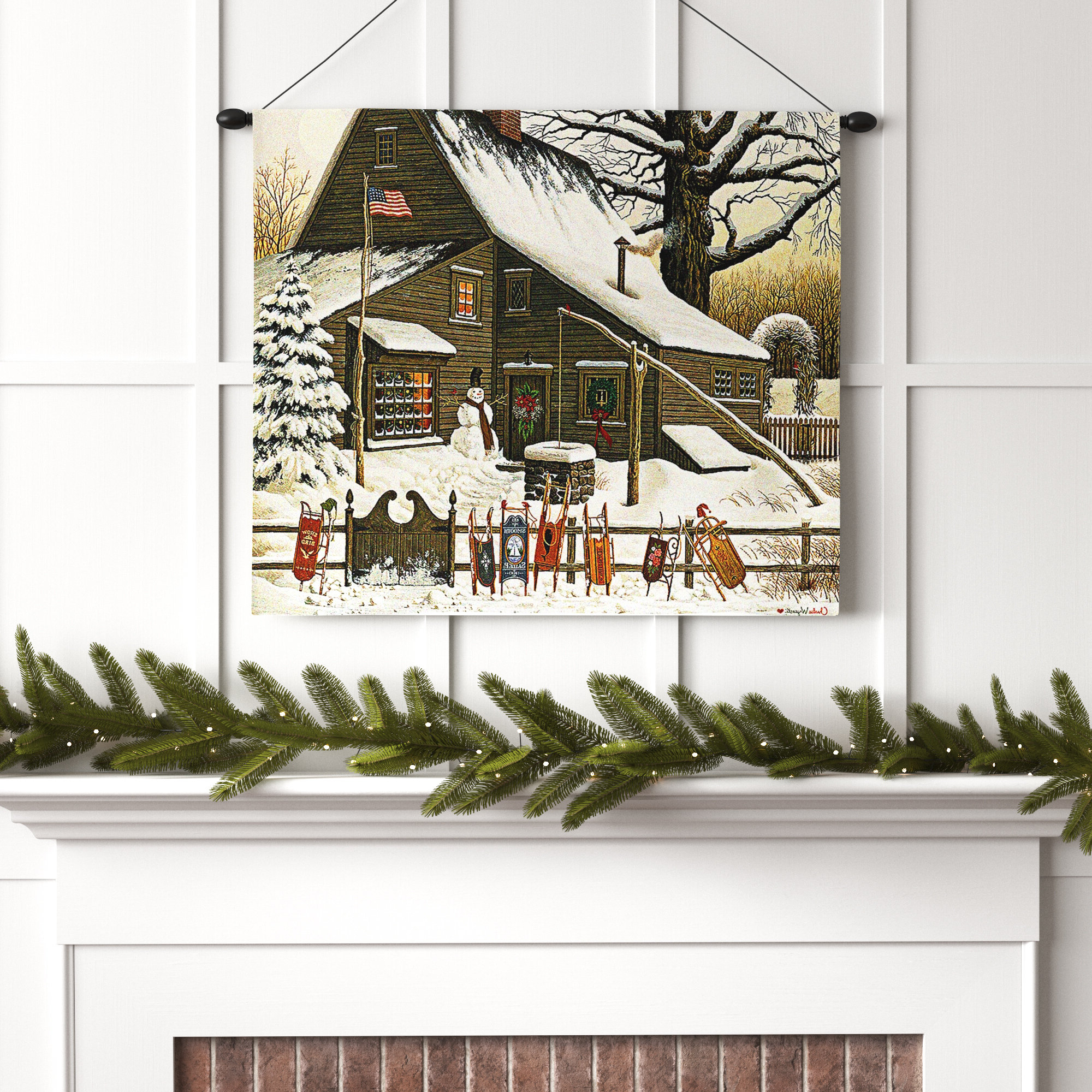 Christmas Tapestries You'll Love In 2021 » Wayfair With Regard To 2020 Blended Fabric Blessings Of Christmas Tapestries (View 11 of 20)