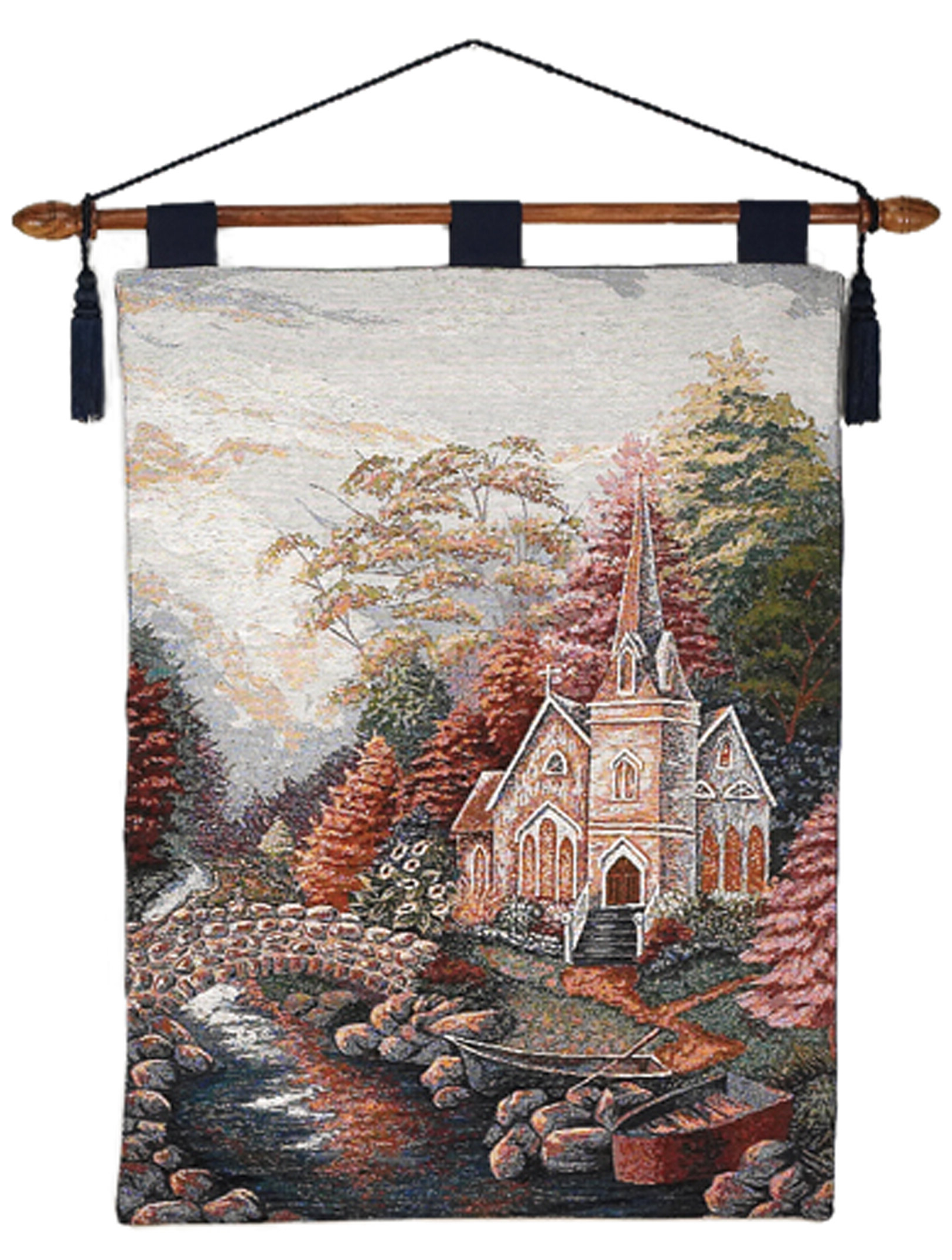 Church Wall Hanging Intended For Well Known Blended Fabric Autumn Tranquility Verse Wall Hangings (View 4 of 20)
