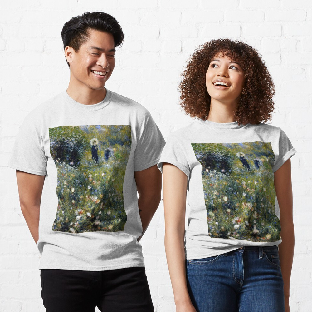 Classic T Shirt Regarding Best And Newest Blended Fabric Spring Bouquet By Renoir Tapestries (View 16 of 20)