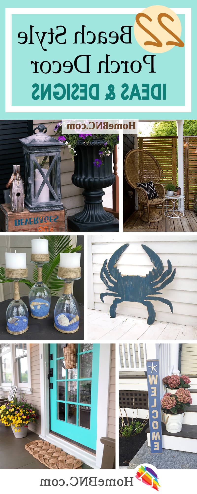 Coastal Flag Sign With Rope Wall Décor In Current 22 Best Beach Style Porch Decoration Ideas And Designs For (View 10 of 20)