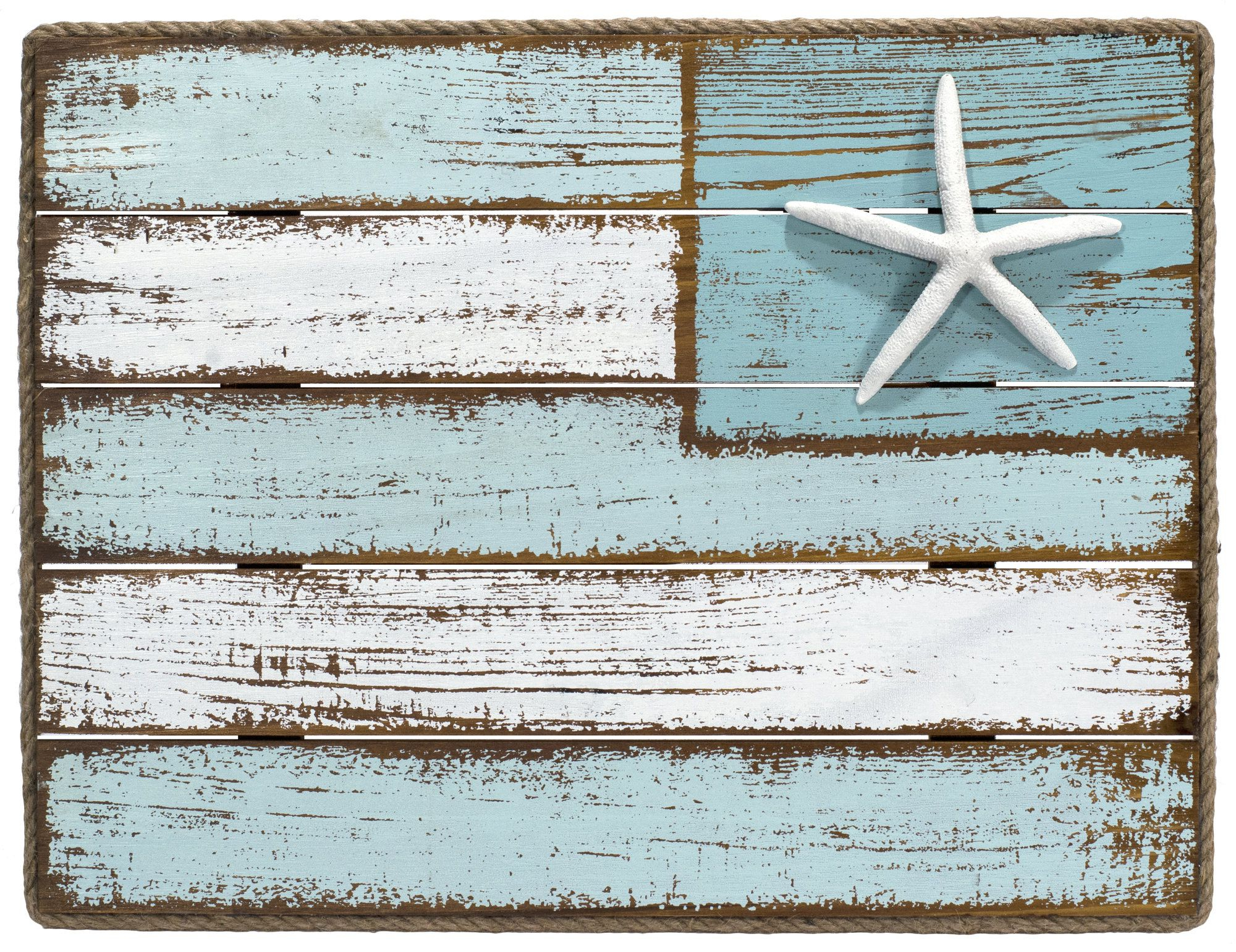 Featured Photo of Coastal Flag Sign With Rope Wall Décor