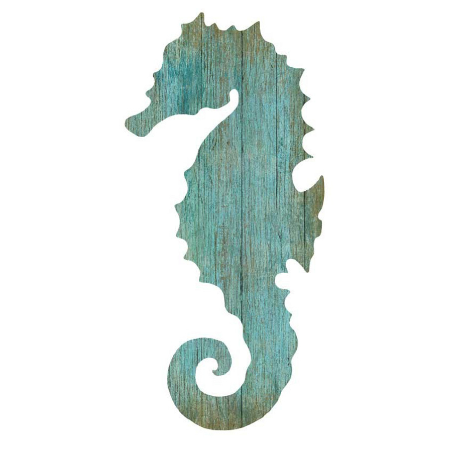 Coastal Flag Sign With Rope Wall Décor Throughout Famous Seahorse Silhouette Facing Right Wall Art – Aqua – Beach (View 5 of 20)