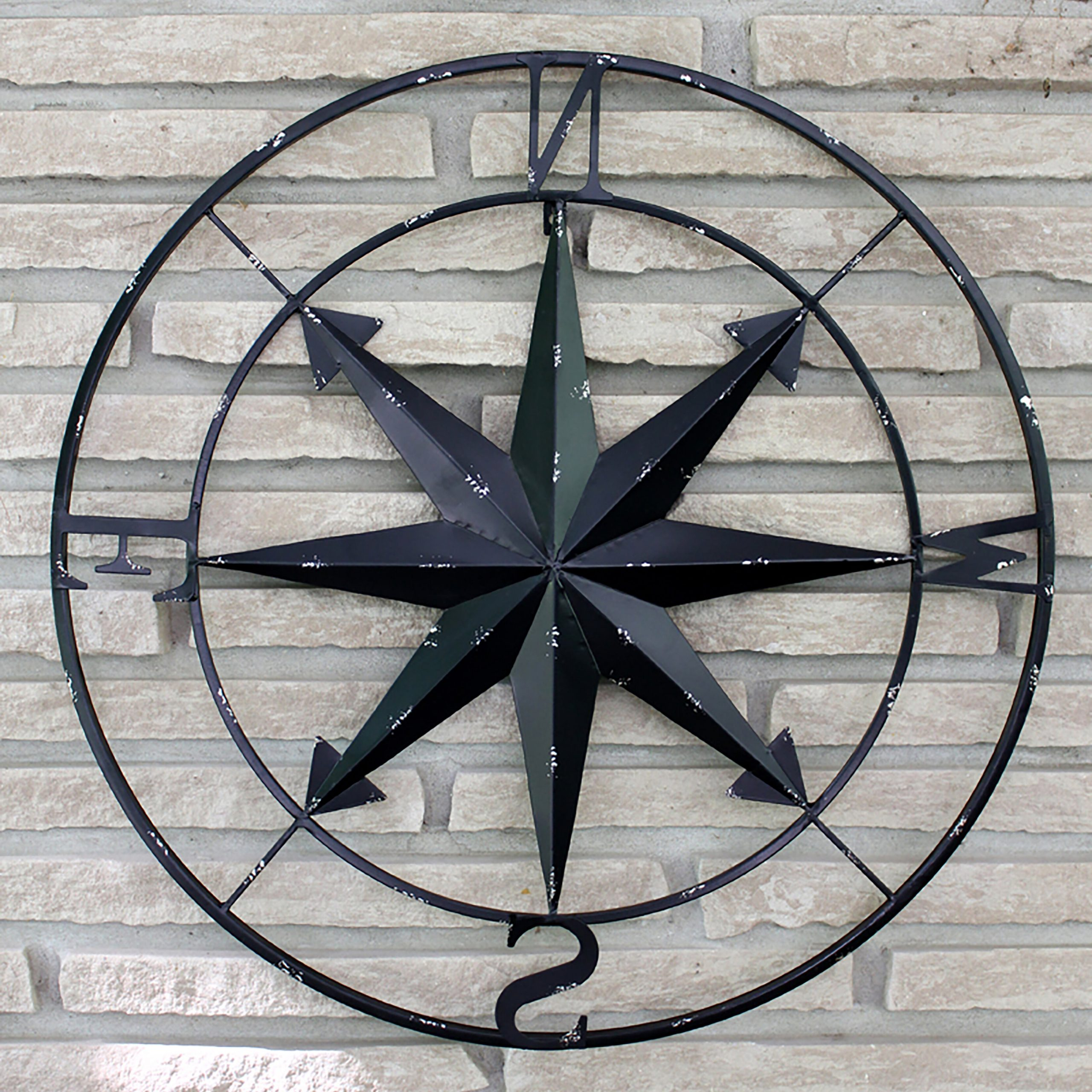 Compass Metal Wall Décor By Beachcrest Home Within Most Up To Date Compass Wall Décor (View 8 of 20)