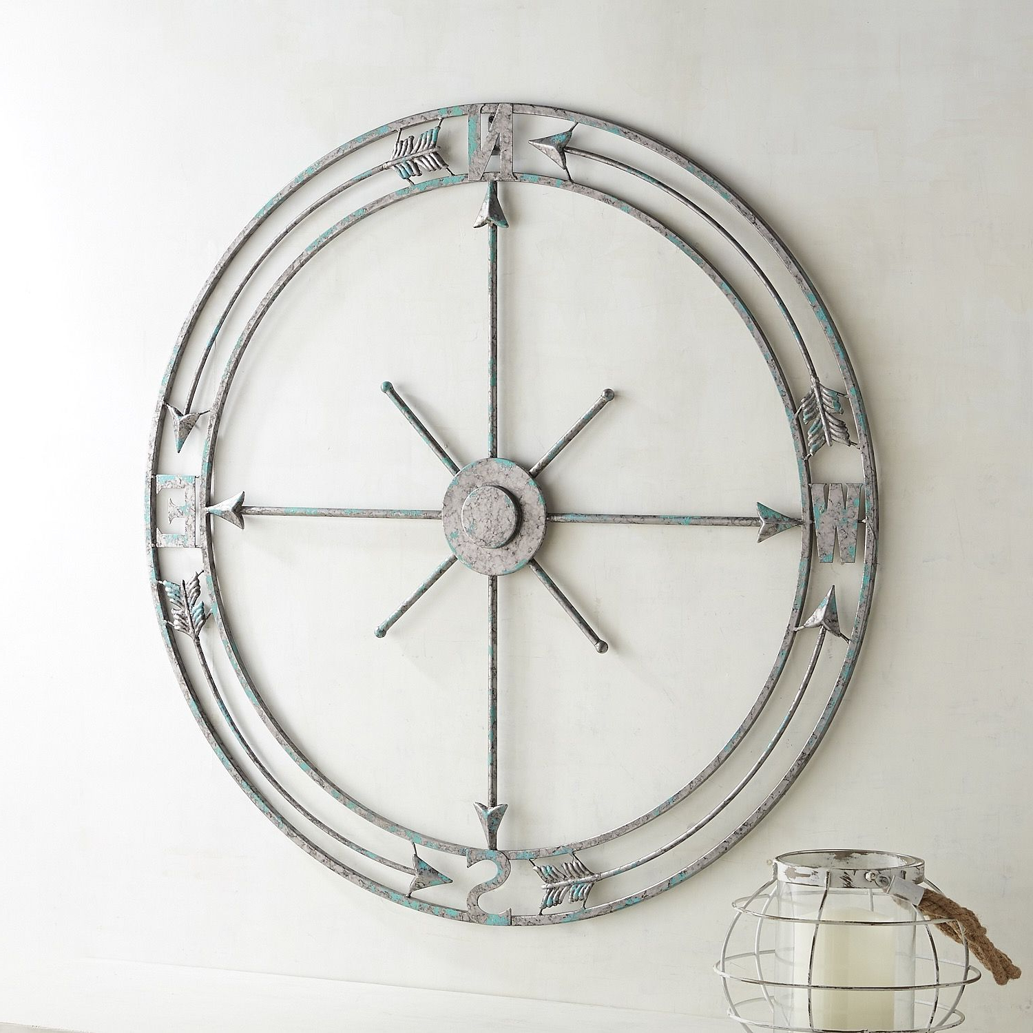Compass Wall Decor Pertaining To Most Recent Compass Metal Wall Décor By Beachcrest Home (View 7 of 20)