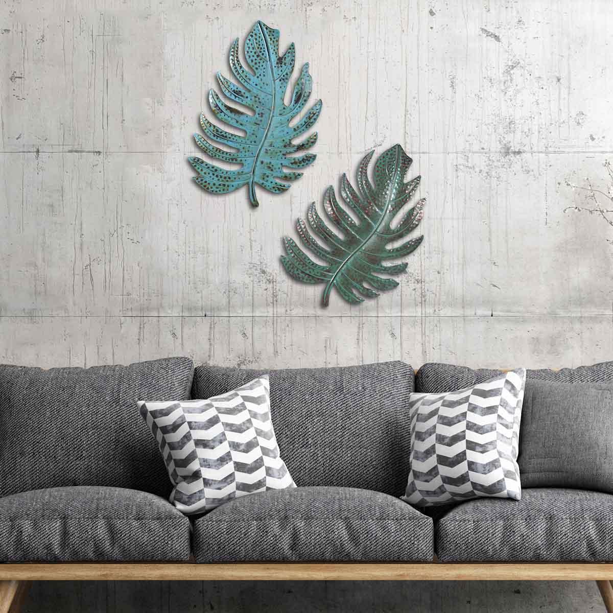 Compre Escultura Wall Decor Folha Verde Folha Metal Wall Art Vintage Rustic Home Office Decor Ornamento Ferro Decoração Vida De Erikaning, $382, (View 14 of 20)
