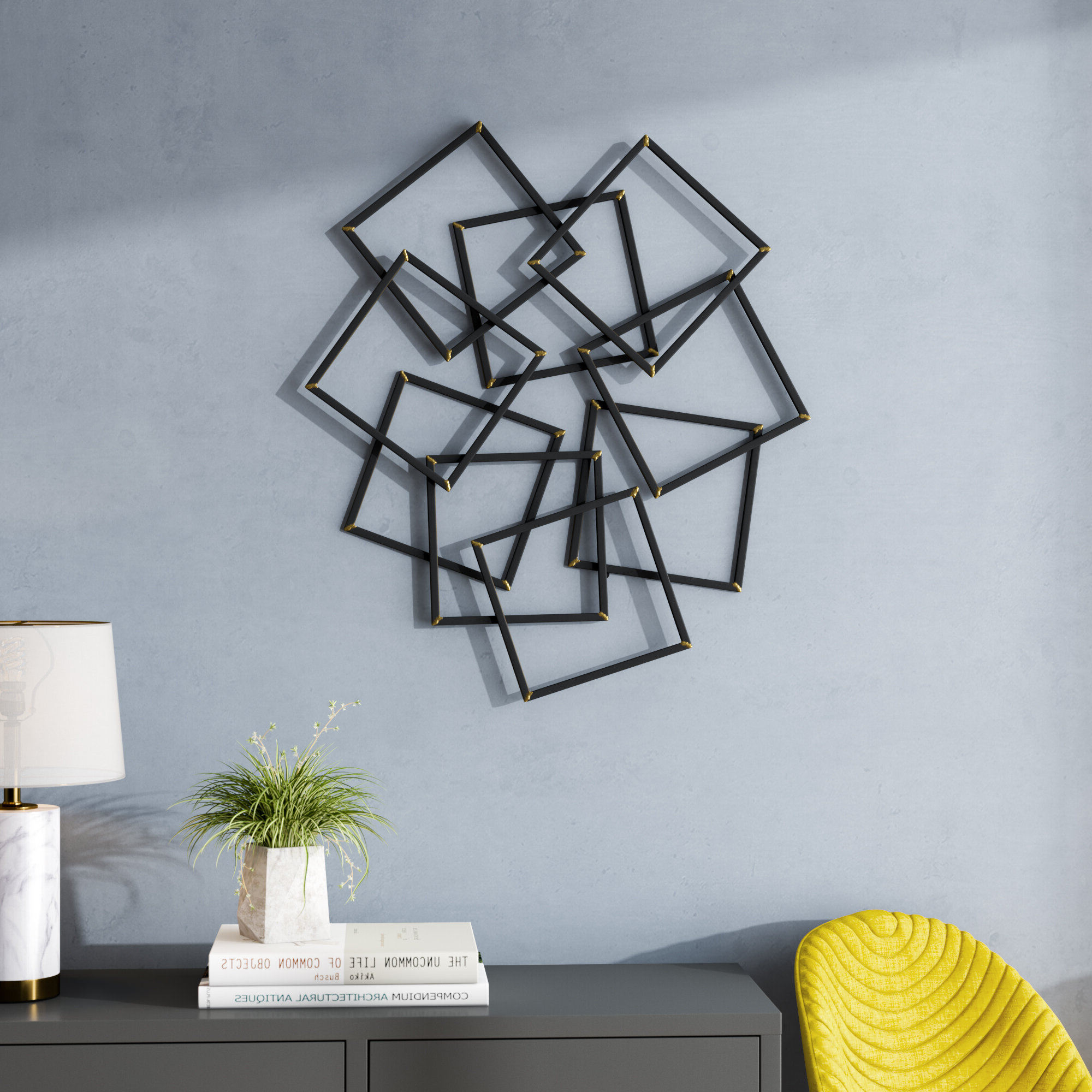 Contemporary Painted Wall Décor Regarding Most Current Wall Décor By Brayden Studio (View 7 of 20)