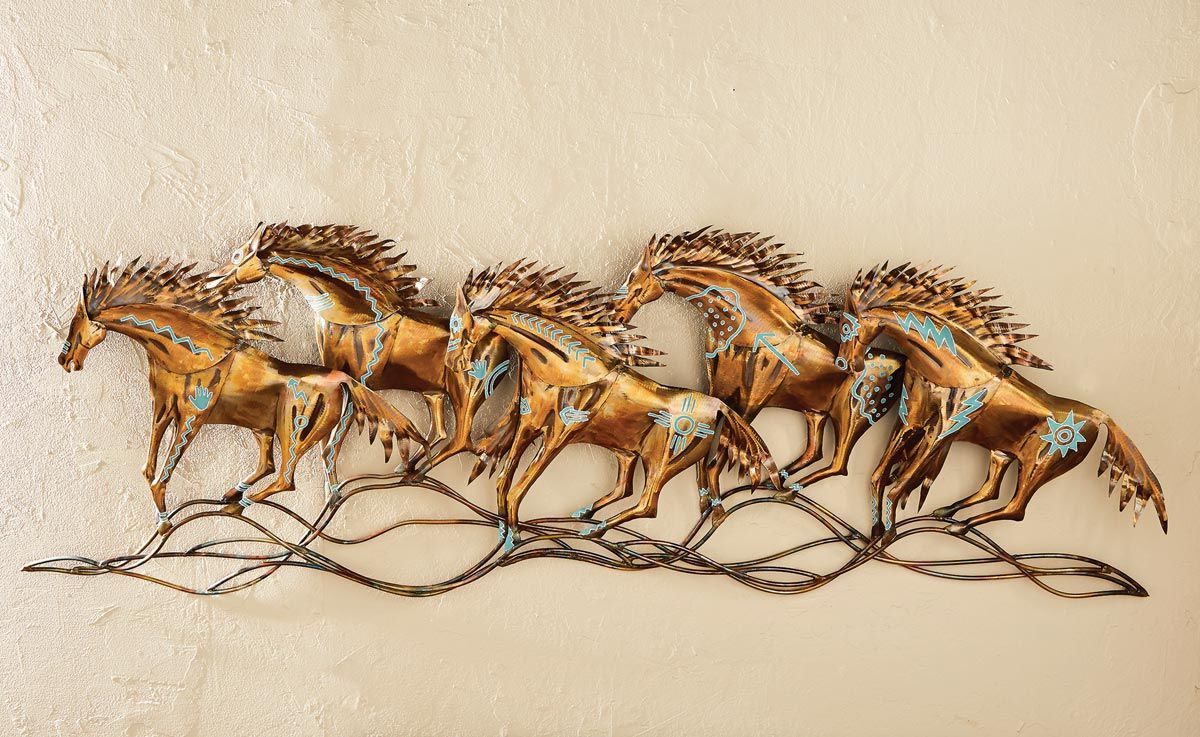 Copper Rustic Iron Wall Décor For Newest Spirits Of The Mustang Metal Wall Art (View 14 of 20)
