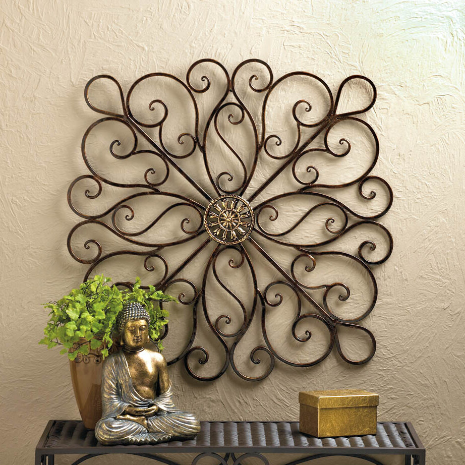 Featured Photo of Copper Rustic Iron Wall Décor