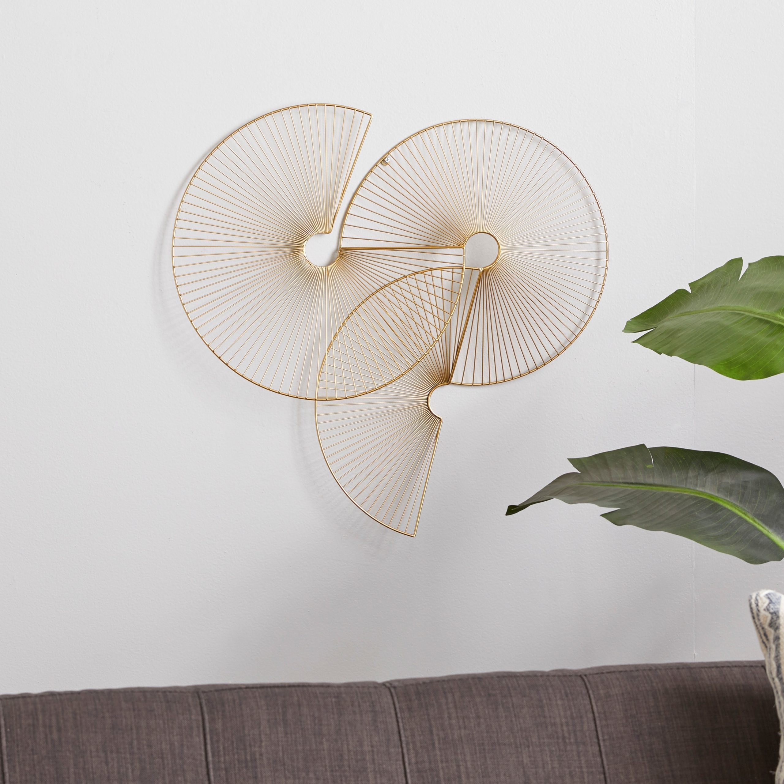 Cosmolivingcosmopolitan Gold Metal Wall Decor 23 X 23 X 3 – 23 X 3 X 23 With Regard To Most Up To Date Metal Wall Décor By Cosmoliving (View 2 of 20)