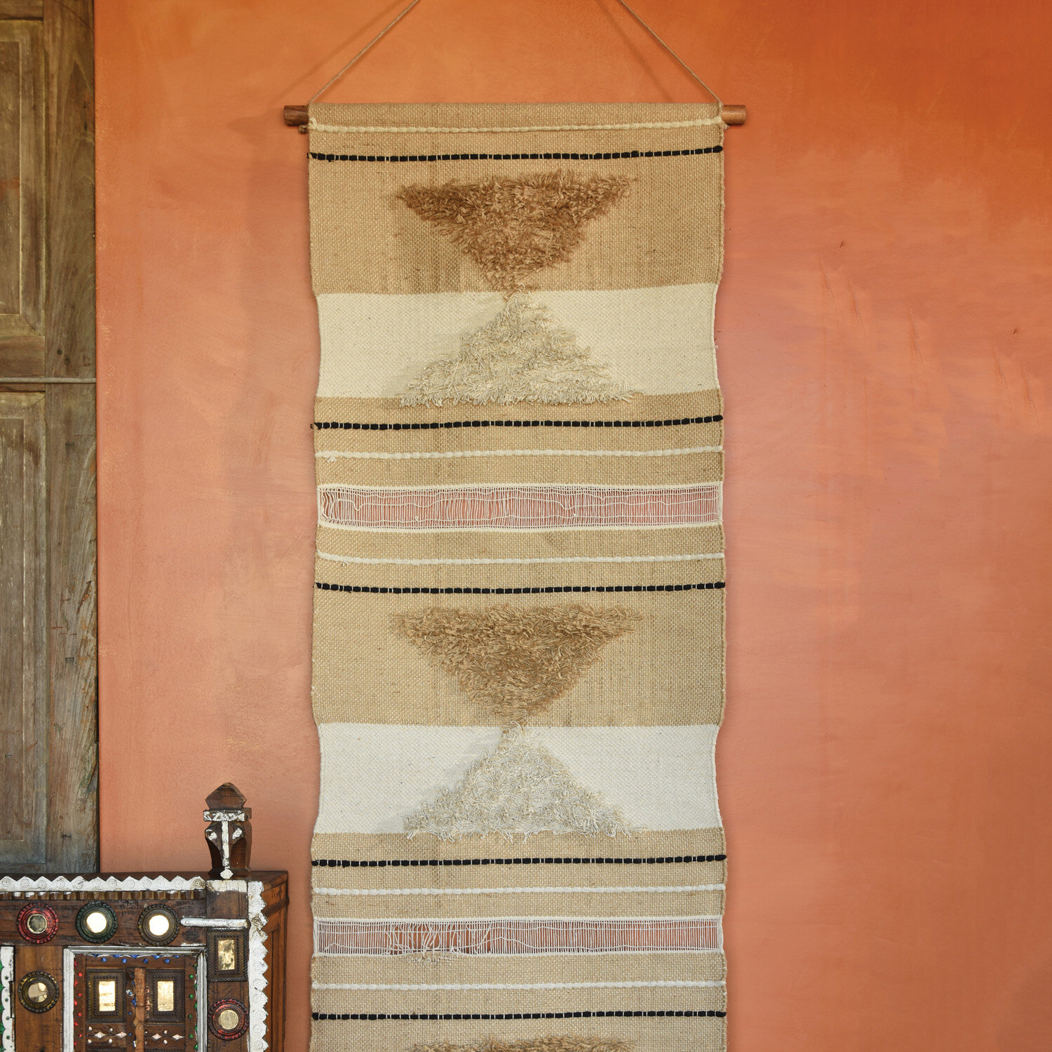 Cotton And Jute Wall Hanging In Latest Blended Fabric Mucha Autumn European Wall Hangings (View 17 of 20)