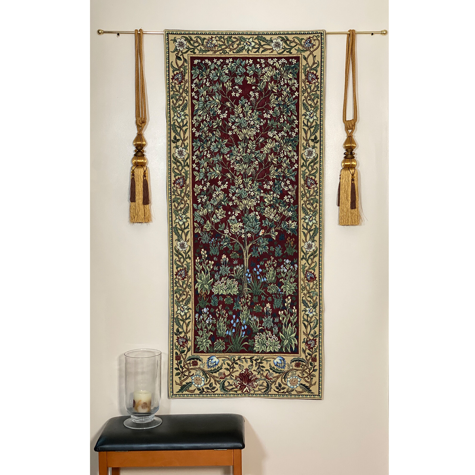 Cotton William Morris Tree Of Life Wall Hanging Within 2019 Blended Fabric Klimt Tree Of Life Wall Hangings (View 20 of 20)