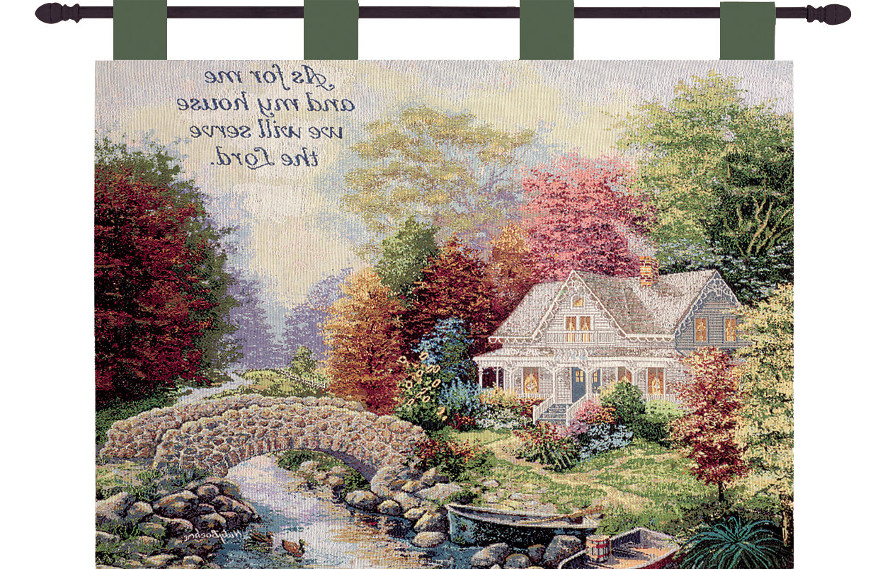 Featured Photo of Blended Fabric Autumn Tranquility Verse Wall Hangings