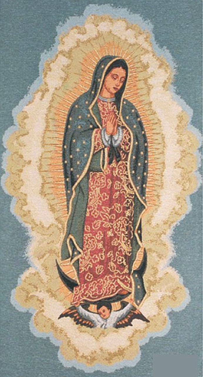 Current Blended Fabric Blessings Of Christmas Tapestries With Regard To Pin On Blessed Mother (View 15 of 20)