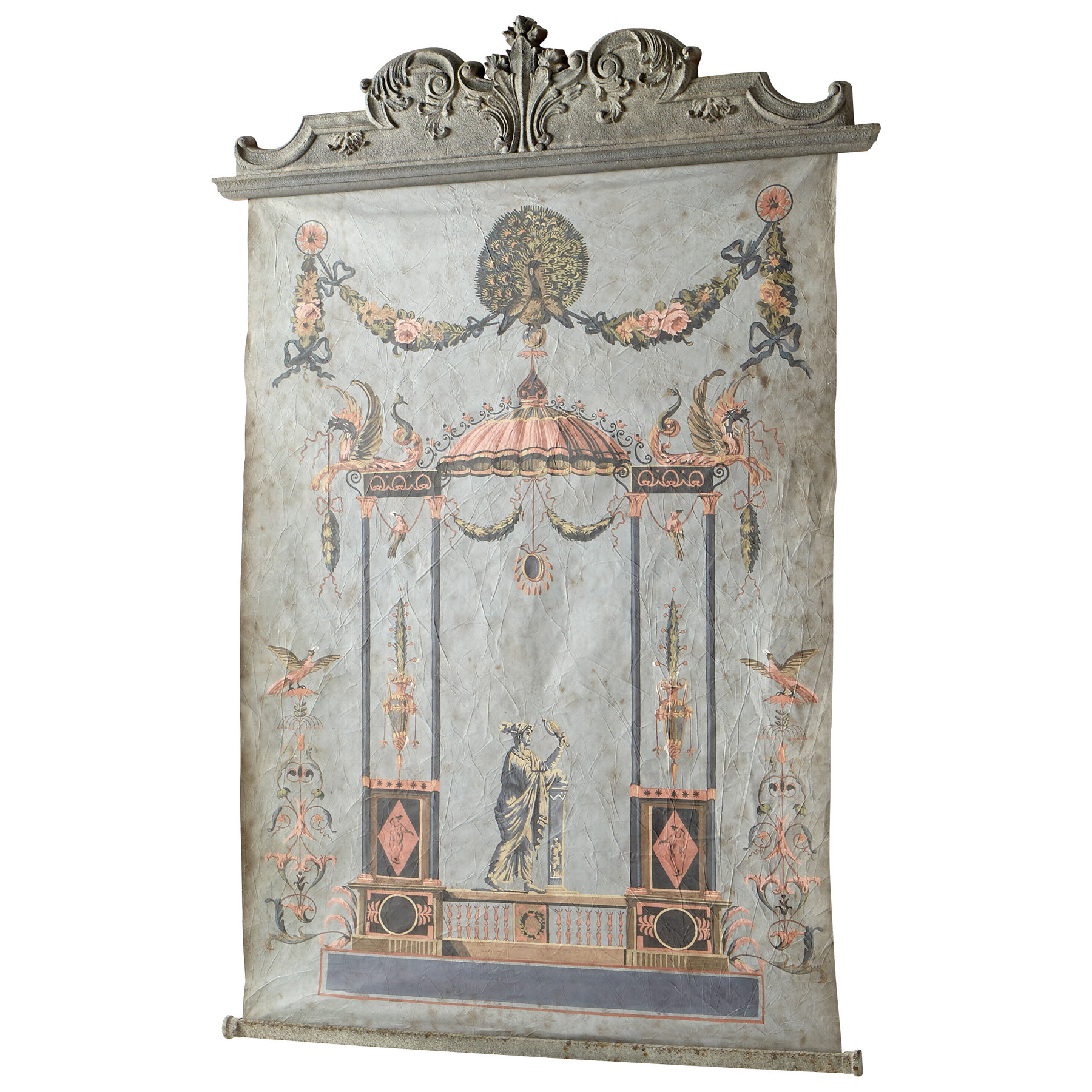 Featured Photo of Blended Fabric Ethereal Days Chinoiserie Wall Hangings With Rod