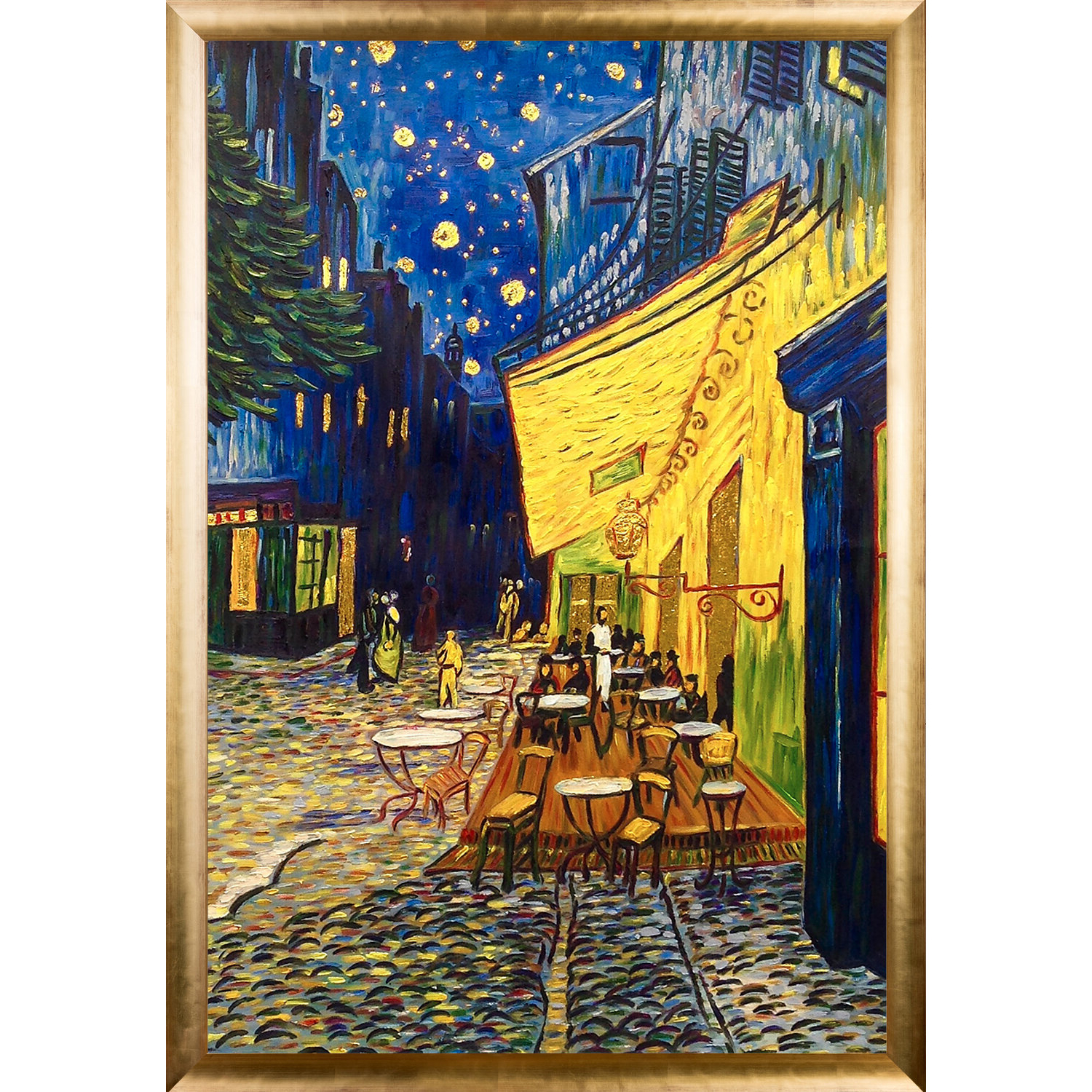 Current Cafe Terrace At Night Vincent Van Gogh Canvas Art Print Oil With Blended Fabric Van Gogh Terrace Wall Hangings (View 11 of 20)