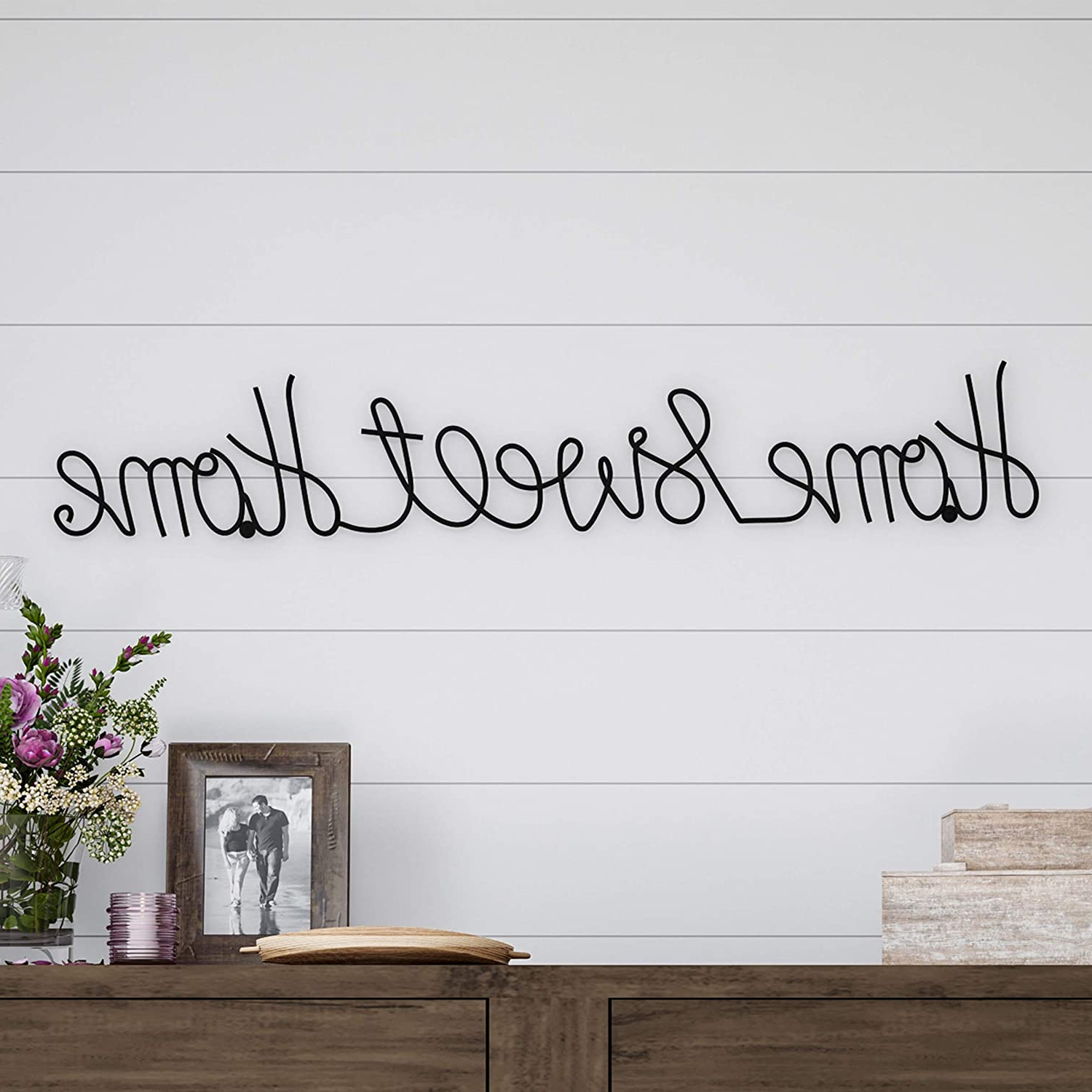 Current Choose Happiness 3d Cursive Metal Wall Décor Pertaining To Lavish Home Metal Sweet Cursive Cutout Sign 3d Word Art Home Accent Decor Perfect For Modern Rustic Or Vintage Farmhouse Style (View 9 of 20)
