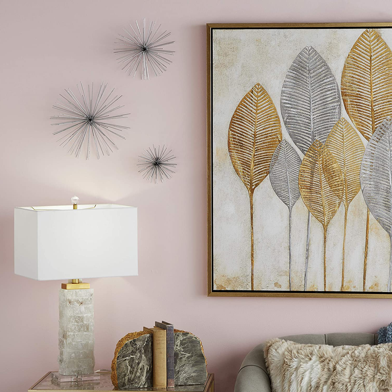 Current Cosmolivingcosmopolitan 50389 Contemporary Style 3d Round Silver Metal Starburst Wall Decor Sculptures (View 6 of 20)