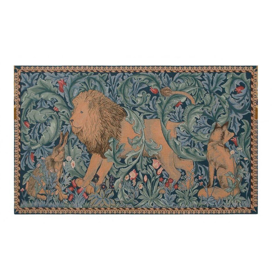 """Current Lion I French Woven Wall Hanging Tapestry 19 X 33"""" Regarding Lion I European Tapestries (View 19 of 20)"""