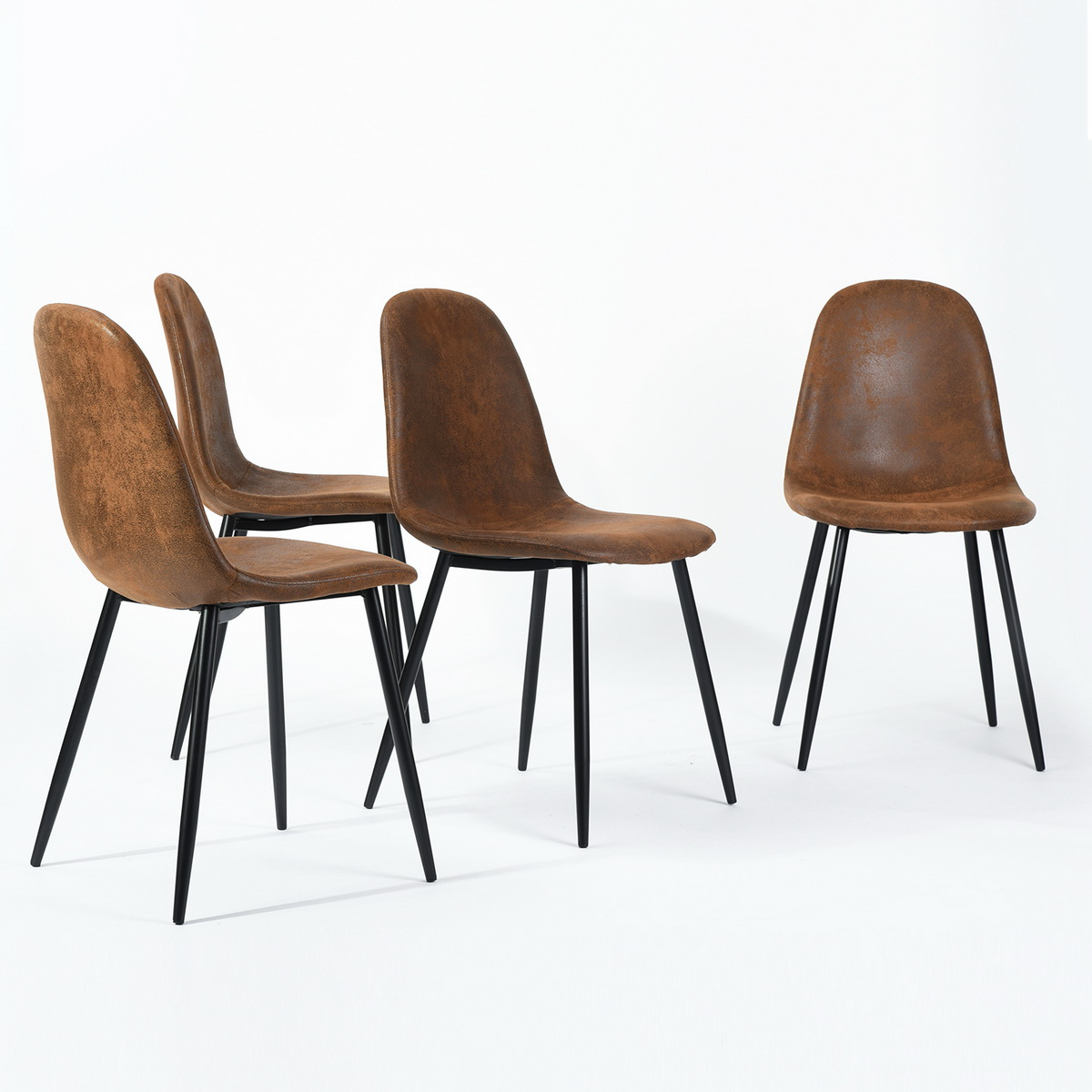 Current Metal Wall Décor By Charlton Home Within Furniturer Charlton Brown With Wood Surface Metal Legs Dining Chair, Set Of 4 – Walmart (View 18 of 20)