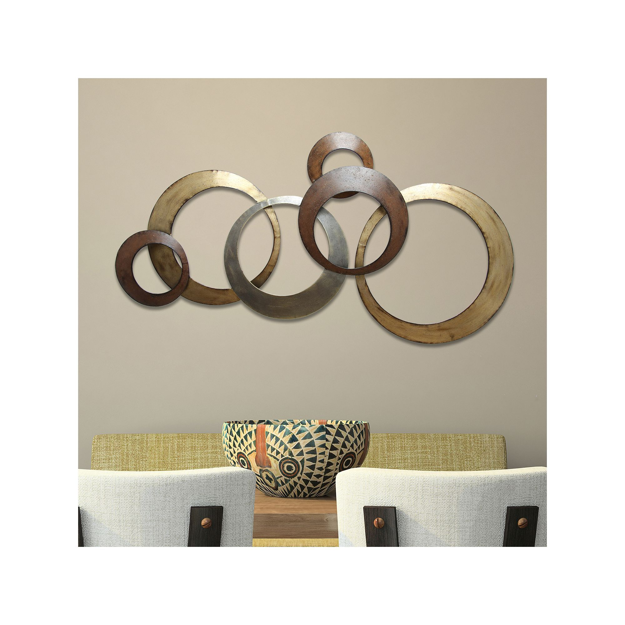 Current Rings Wall Décor By Stratton Home Decor Regarding Stratton Home Decor Metallic Rings Wall Decor In (View 5 of 20)