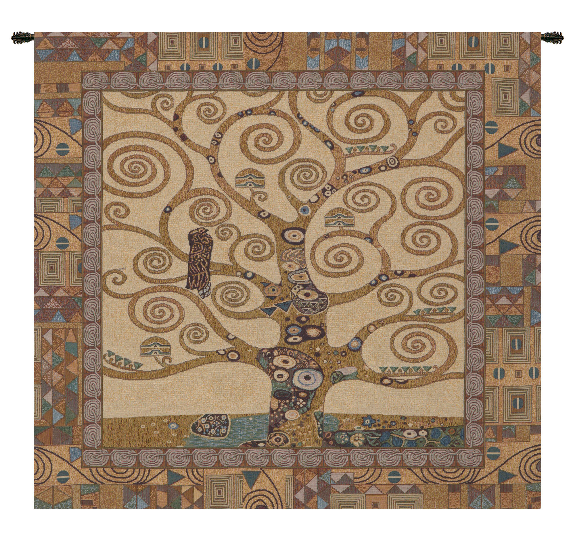 Current Tree Of Life Wall Hanging With Blended Fabric Klimt Tree Of Life Wall Hangings (View 11 of 20)
